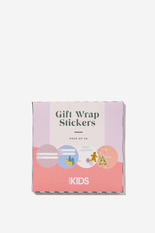 Christmas Wrap Stickers, FAIR ISLE CHRISTMAS