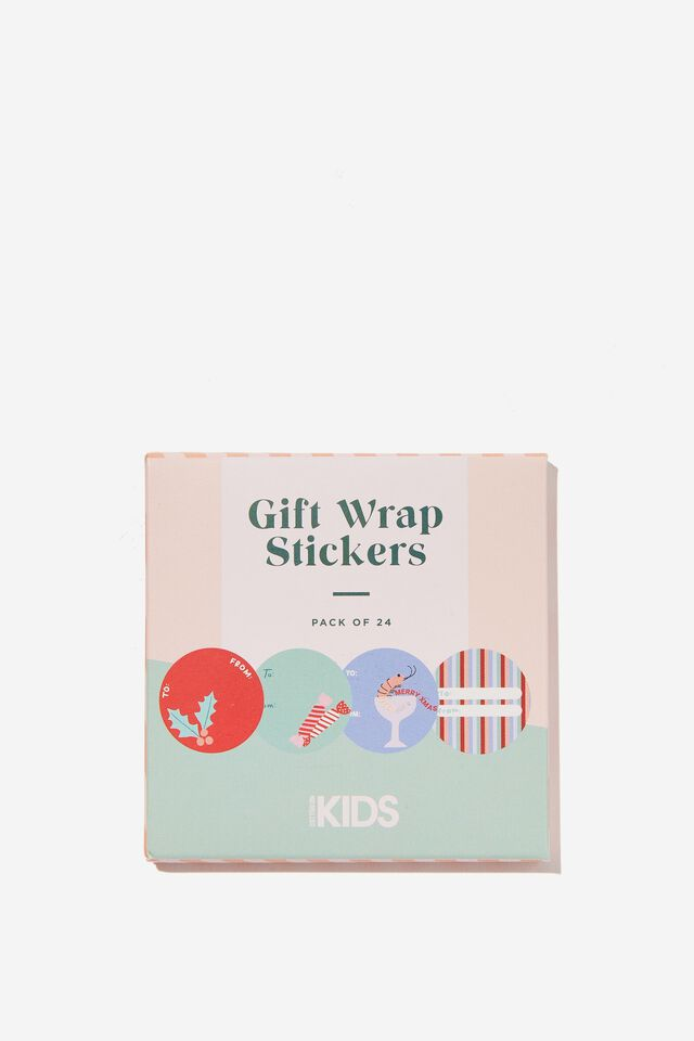 Christmas Wrap Stickers, PRAWN COCKTAIL CHRISTMAS