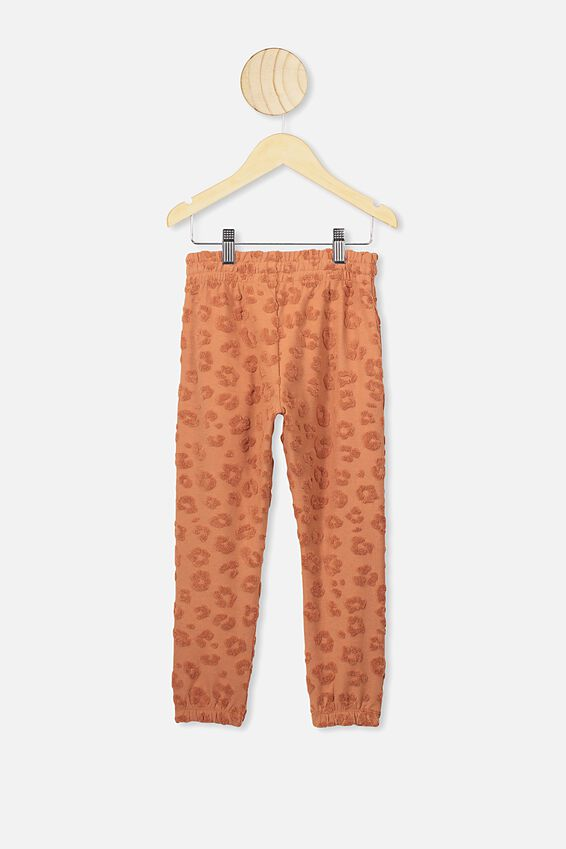 Keira Cuff Pant, AMBER BOWN LEOPARD TEXTURE