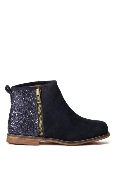 Lexi Ankle Boot With Zip, NAVY