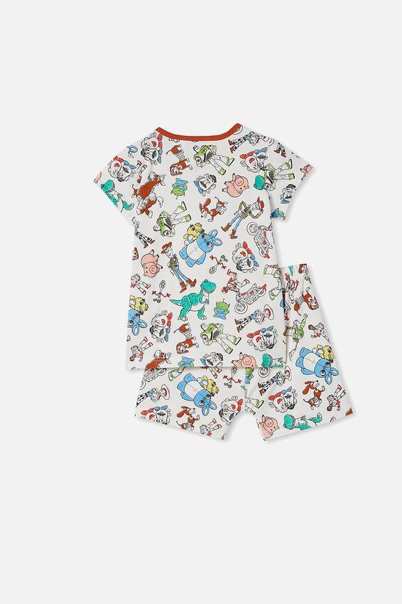Hudson Short Sleeve Pyjama Set, LCN DIS TOYSTORY 4 VANILLA