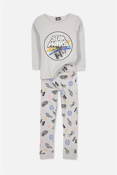 Harry Long Sleeve Boys PJ Set, STAR WARS SPACESHIPS
