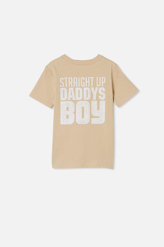 Max Skater Short Sleeve Tee, SEMOLINA/STRAIGHT UP DADDY S BOY