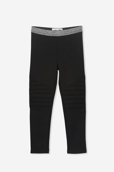 Delevigne Pant, BLACK/MOTO