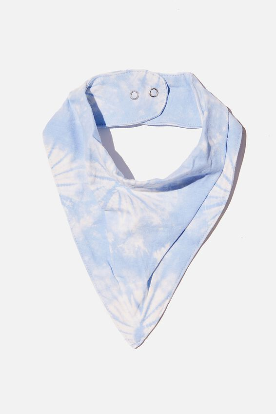 The Bandana Bib, DUSK BLUE TIE DYE