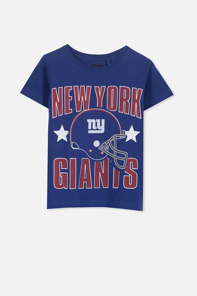 Short Sleeve License Tee, BLUE/NY GIANTS