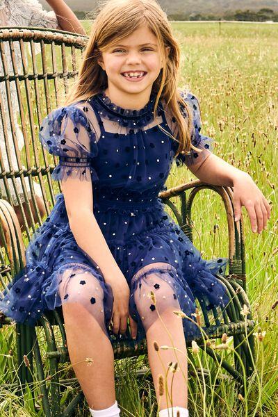 Alice Mccall/Short Sleeve Dress, INDIGO NIGHT