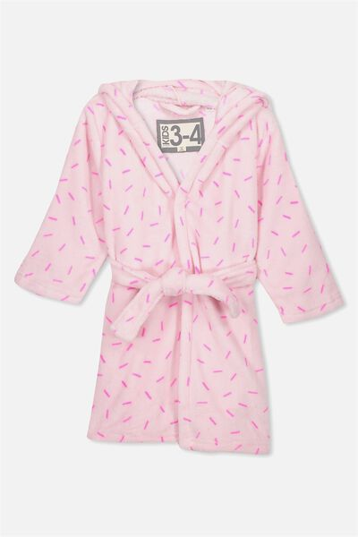 Girls Hooded Robe, SPECKLED UNICORN