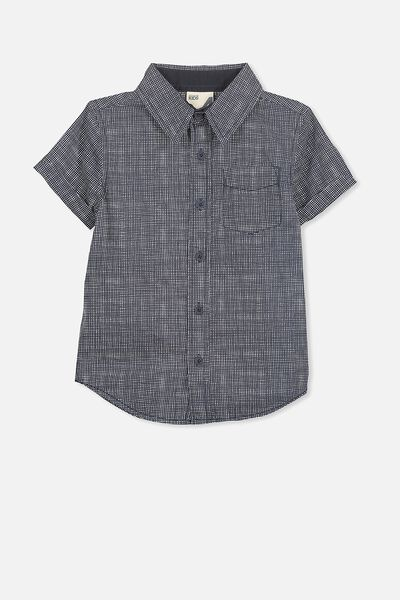 Jackson Short Sleeve Shirt, NAVY VANILLA HATCHER