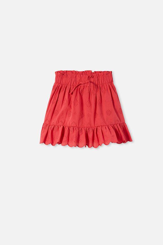 Lana Skirt, LUCKY RED/BRODERIE NEW
