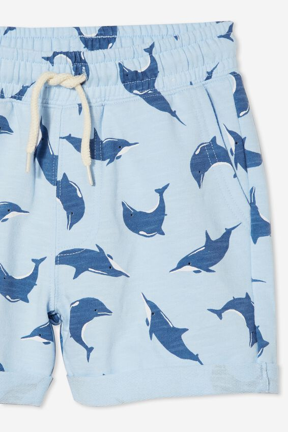 Henry Slouch Short 60/40, WHITE WATER BLUE/DOLPHIN