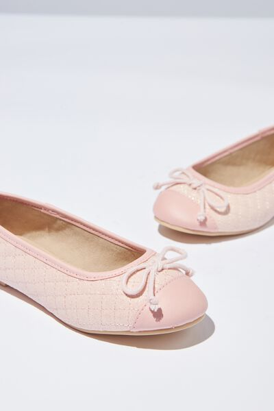 Ballet Flats, QUILTED BLUSH
