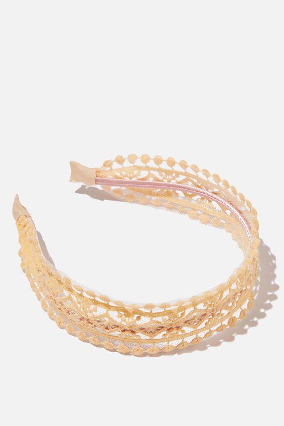 Headband - Apricot Sun Lace, APRICOT SUN LACE