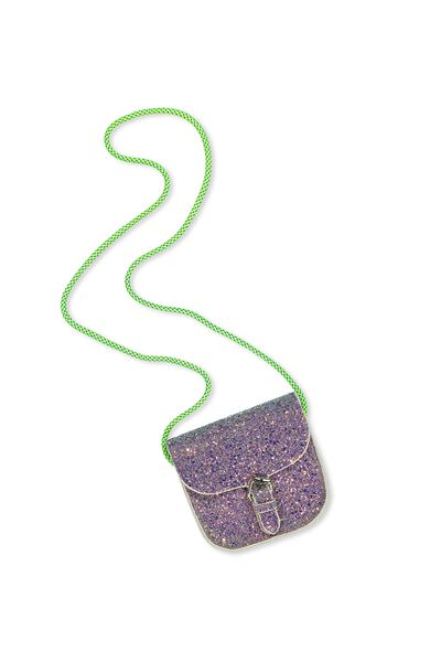 Mia Saddle Party Bag, MERMAID GLITTER