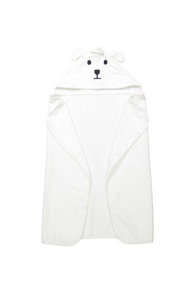 Baby Snuggle Towel, VANILLA BEAR