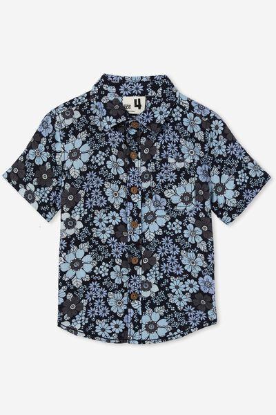 Resort Short Sleeve Shirt, NAVY BLAZER/FLORAL