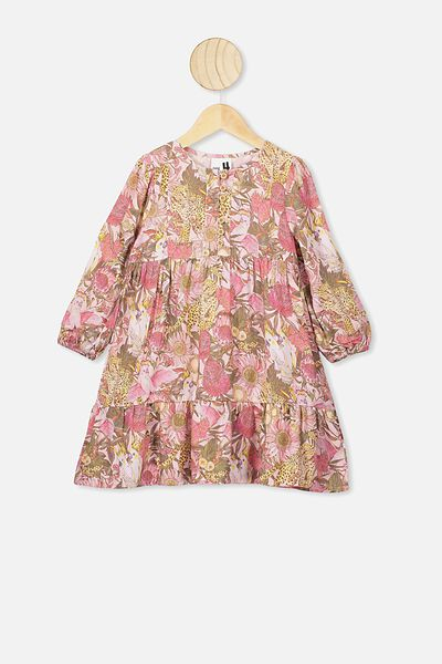 Ebony Long Sleeve Dress, AUSTRALIANA