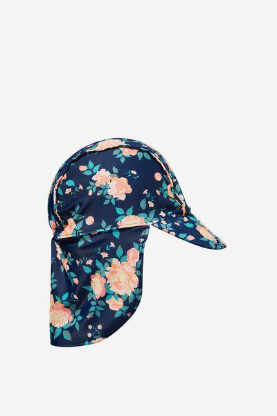 Sammy Swim Hat, INDIGO/RETRO CORAL WHITBY FLORAL