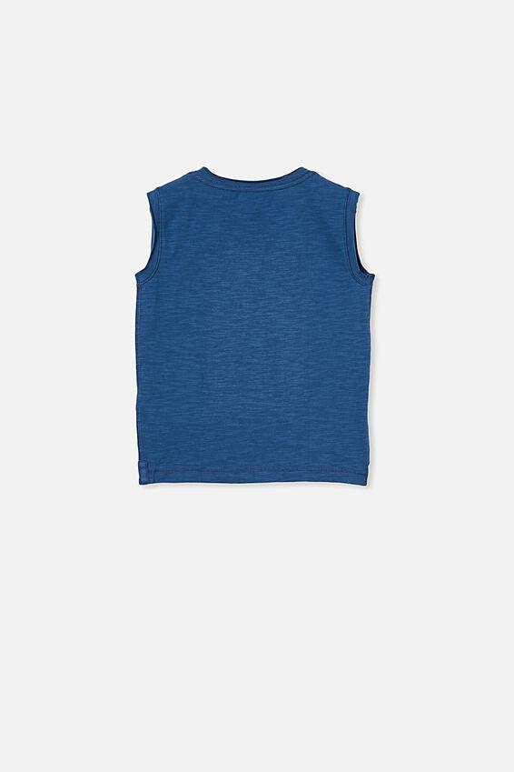 Oli Textured Tank, PETTY BLUE
