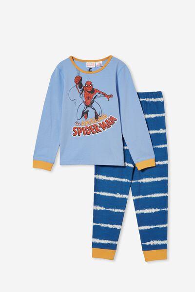 Orlando Long Sleeve Pyjama Set Licensed, LCN MAR AMAZING SPIDERMAN/DUSK BLUE