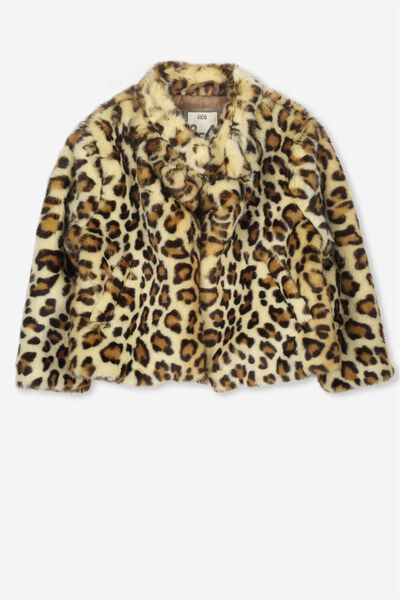 Charlie Faux Fur Jacket, ANIMAL
