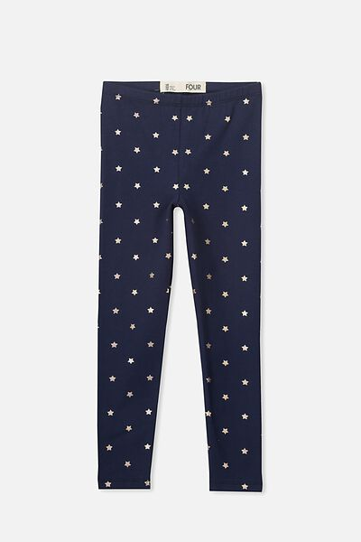 Huggie Tights, PEACOAT/MINI FOIL STARS