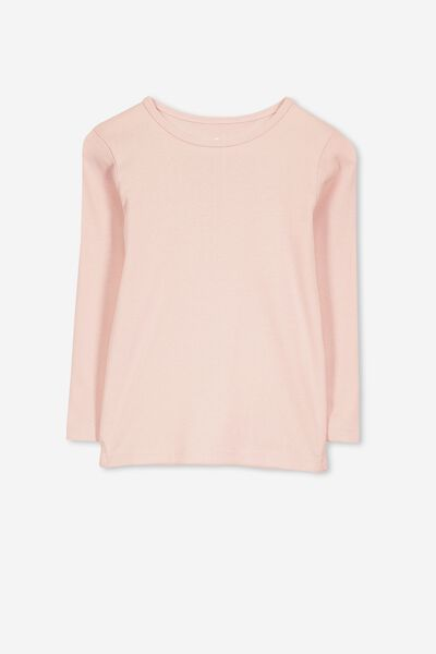 Jessie Crew Long Sleeve Tee, SMOKEY PINK