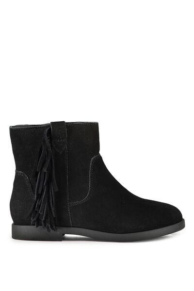 Arizona Leather Boot, BLACK