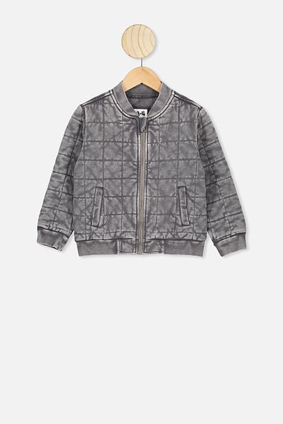 Quilted Bomber Jacket, RABBIT GREY