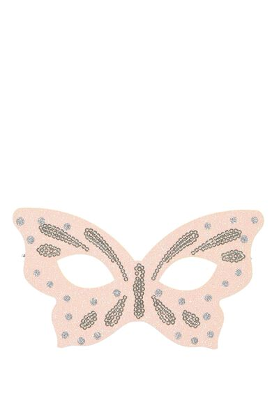 Glitzy Fun Mask, SPOTTY BUTTERFLY