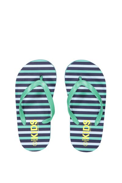 Printed Flip Flop, B MINT STRIPES