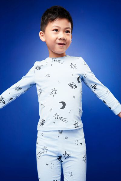 Orlando Long Sleeve Pj Set, BLUE SWELL OUT OF THIS WORLD