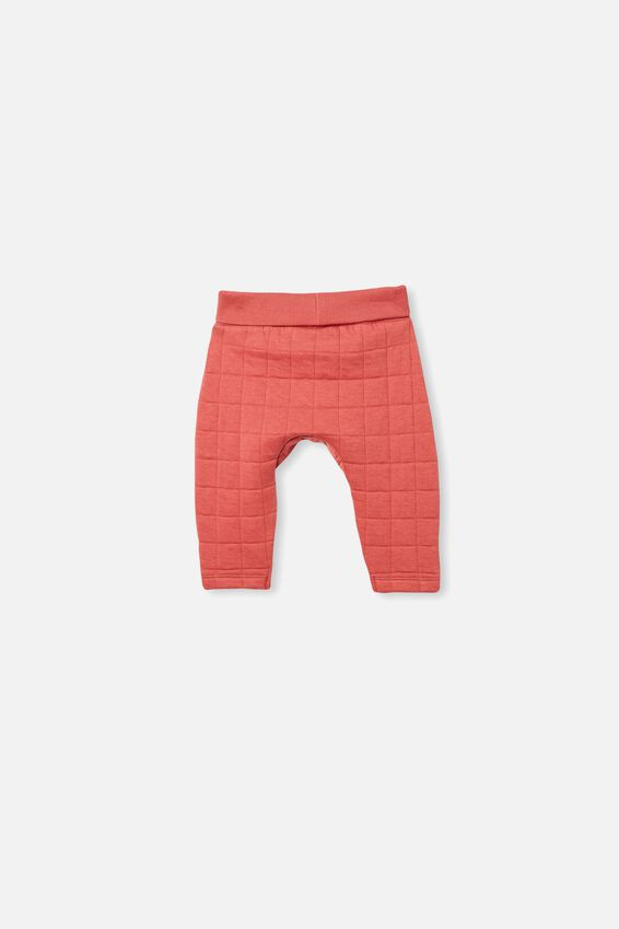 Rory Quilted Trackpant, RED BRICK