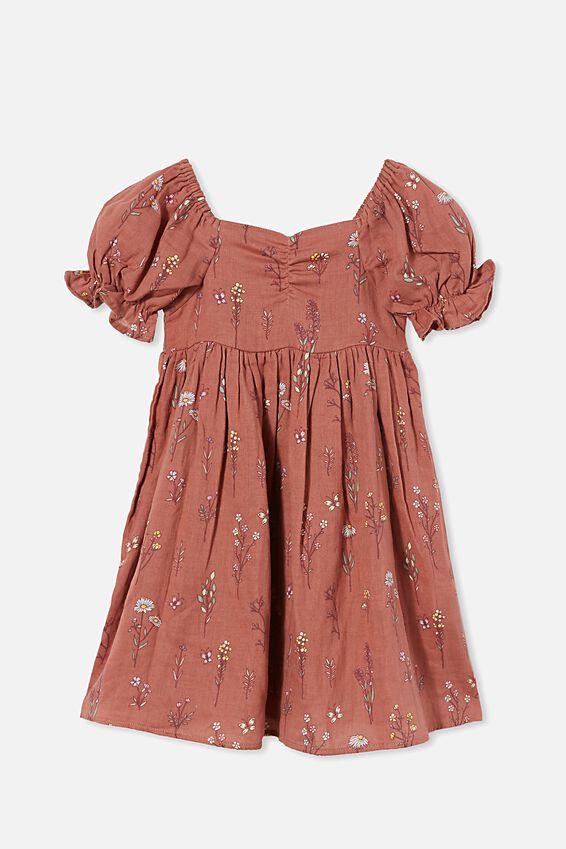 Samantha Short Sleeve Dress, CHUTNEY BOTANICAL SPRIGS