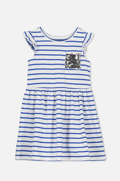 Maxie Dress, PRINCESS BLUE/VANILLA STRIPE