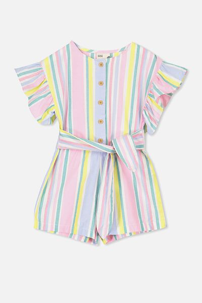 Jodie Short Jumpsuit, VERTICAL STRIPE