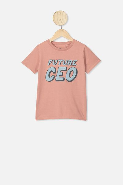 Max Short Sleeve Tee, CLAY PIGEON/FUTURE CEO