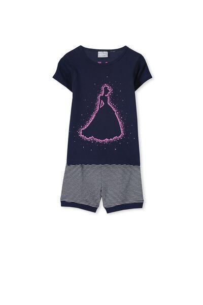 Cinderella Short Sleeve PJ Set, CINDERELLA SPARKLE