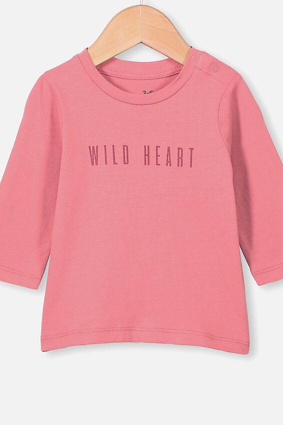 Jamie Long Sleeve Tee, RUSTY BLUSH/WILD HEART