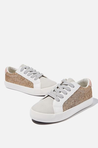 Tibi Sneaker, GOLD GLITTER BLUSH