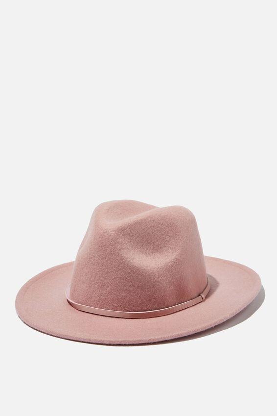 Wide Brim Hat - Pu Band, ZEPHYR FELT WIDE BRIM