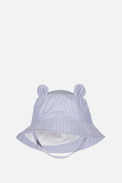 Baby Bucket Hat, BLUE STRIPE