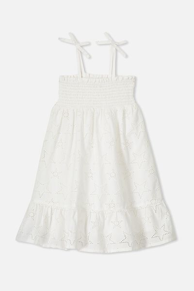 Lily Mae Sleeveless Dress, WHITE/STARS