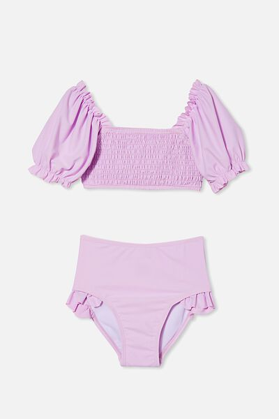 Primrose Puff Sleeve Bikini, PALE VIOLET