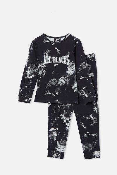 Orlando Long Sleeve Pyjama Set Licensed, LCN ALL PHANTOM/TIE DYE ALL BLACKS