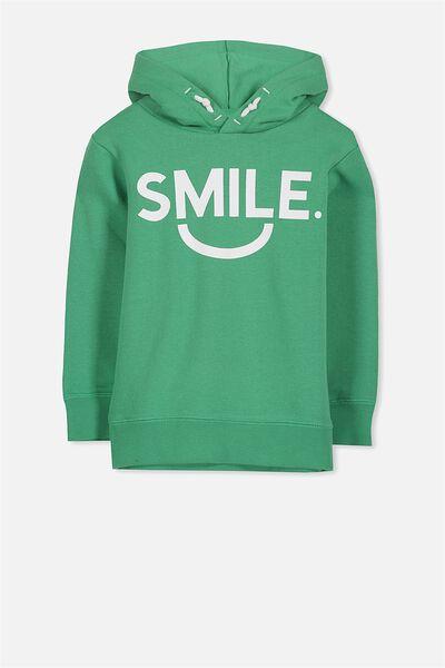 Liam Hoodie, KELLY GREEN/SMILE