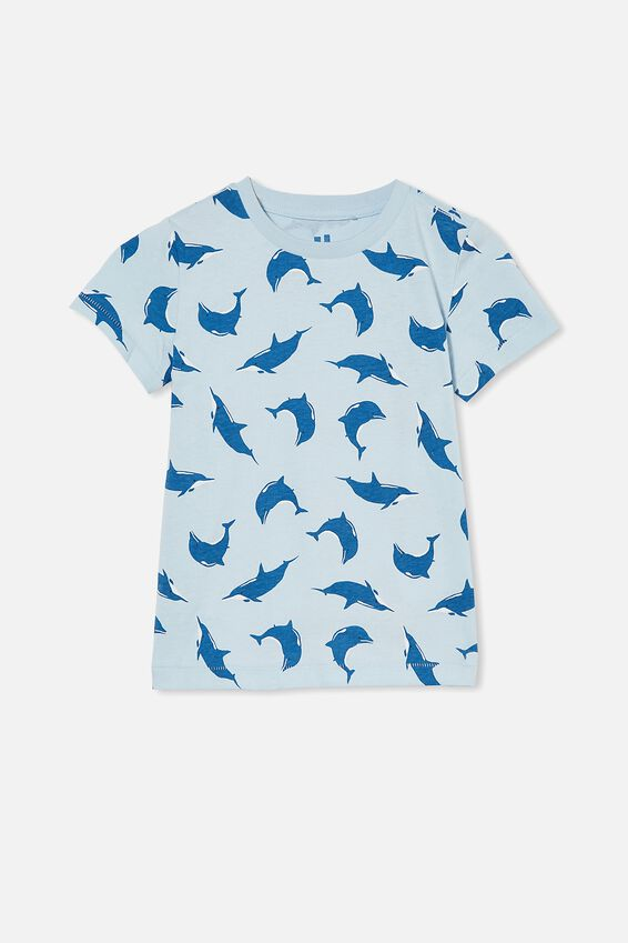 Max Short Sleeve Tee, WHITE WATER BLUE/DOLPHIN