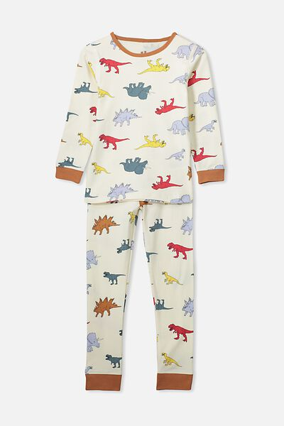 Harrison Long Sleeve Boys Pyjamas, MULTI DINO