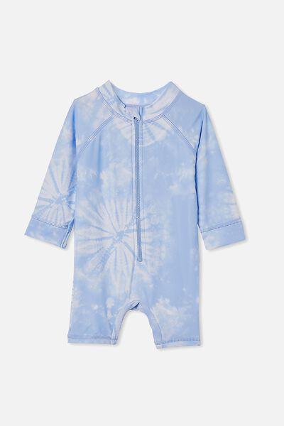 Cameron Long Sleeve Swimsuit, DUSK BLUE/TIE DYE