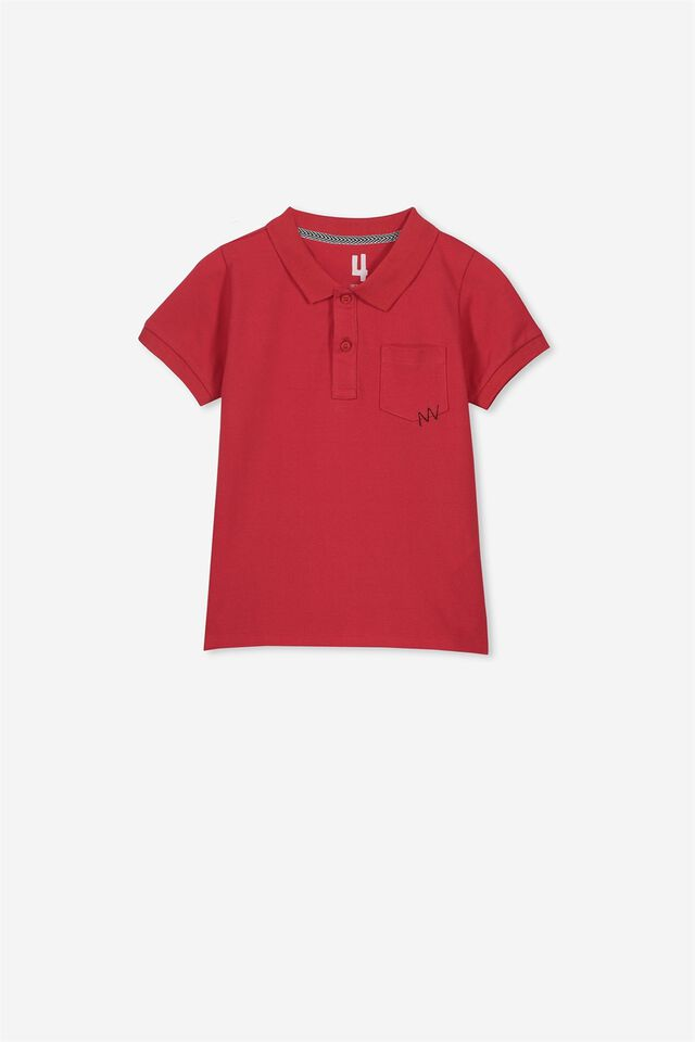 Kendricks Polo Top, SOPHIE RED